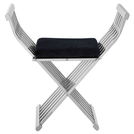 Horizon Stainless Steel Cross Design Occasional Chair In Silver