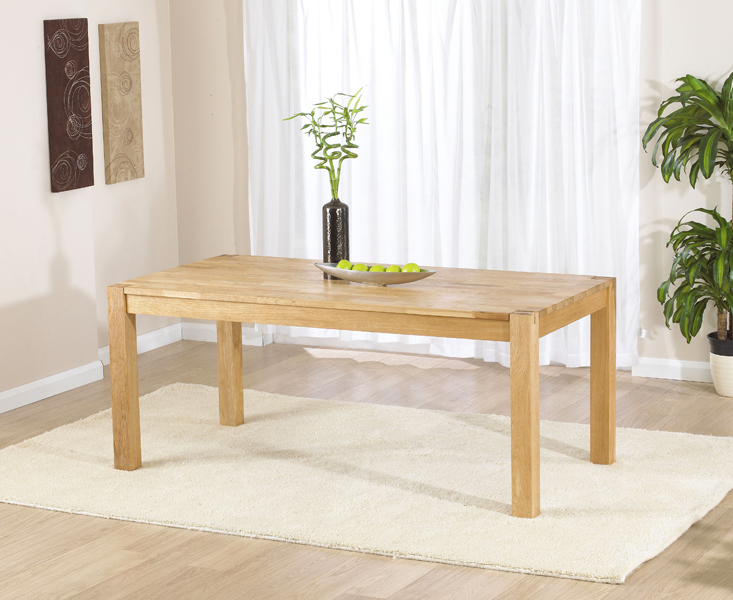 Verona 180cm Oak Dining Table