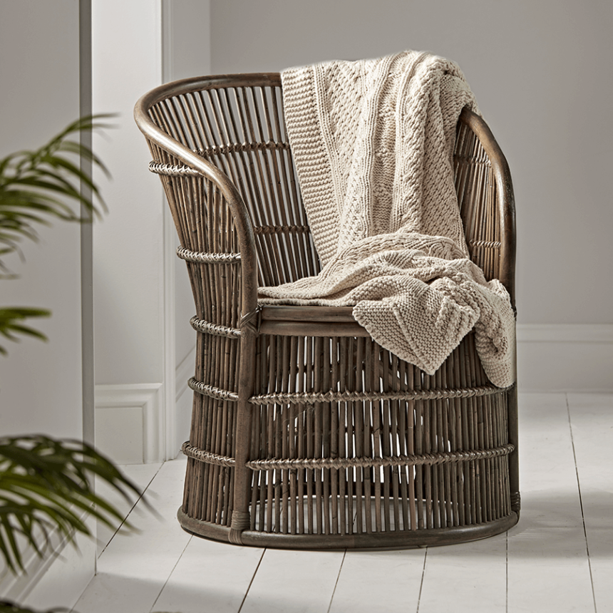 NEW Round Rattan Occasional Chair