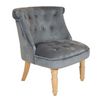 Charles Bentley Toulouse Velvet Occasional Chair Grey